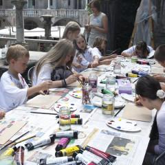 Otroška likovna delavnica; foto: Miha Fras